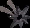 Large dark star detail