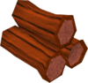 Red logs detail