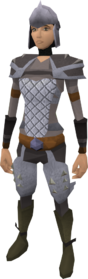 Steel helm equipped