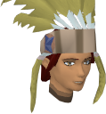 Feather headdress (yellow) chathead