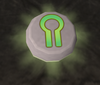 Glowing nature rune detail
