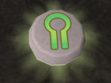 Glowing nature rune