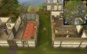 Scan clue East Ardougne west of Flying Horse Inn