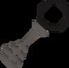 Steel key black detail