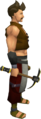 Gilded iron pickaxe equipped.png