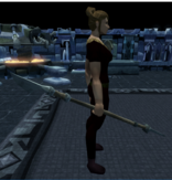 Kratonite spear equipped