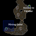 Mining Guild resource dungeon entrance location.png
