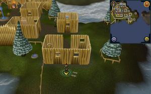 Scan clue Fremennik Isles Neitiznot outside room with spinning wheel