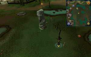 Scan clue Haunted Woods south-east of Canafis lodestone