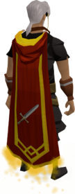 Attack master cape equipped