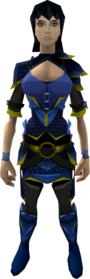 Blue dragonhide armour (g) (female) equipped