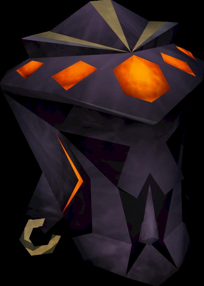 Obsidian mage helm detail