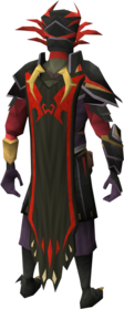 Warpriest of Zamorak cape equipped