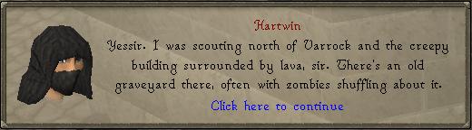 Hartwin over de locatie van de zombies