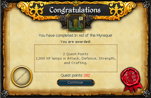 In Aid of the Myreque reward