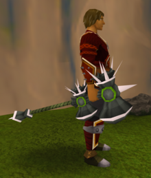 Lucky Torag's hammer equipped