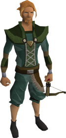 Off-hand black crossbow equipped