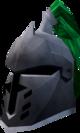 Steel heraldic helm (Misthalin) detail