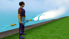Augmented staff of limitless air equipped