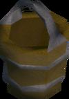 Empty oil bucket detail