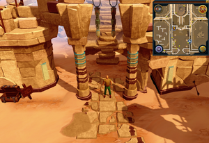 Sandy Clue Scroll Duel Arena archway