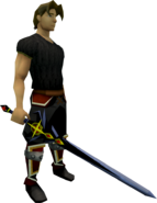 Shadow Owen's longsword equipped