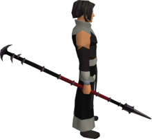 Black spear equipped