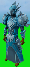 Elite tectonic armour (ice) equipped