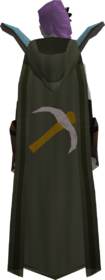 Retro hooded mining cape equipped