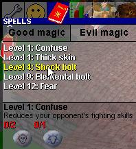 Standard spells old0