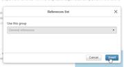 VE advanced - reference default group