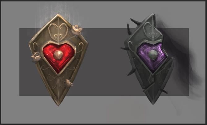 Valentine shields concept art