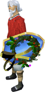 Wreath Shield equipped