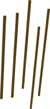 Arrow shaft detail