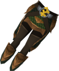 Blessed dragonhide chaps (Bandos) detail