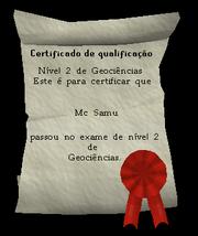 Certificado de Nível 2