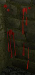 Decorative blood built