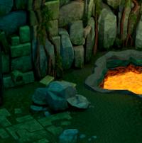 Hidey-hole Dragontooth Island resource dungeon