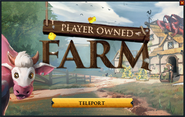 Player-owned farm noticeboard interface