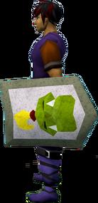 Rune kiteshield (Jogre) equipped