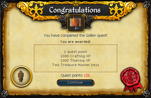 The Golem reward