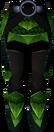 Green dragonhide chaps detail