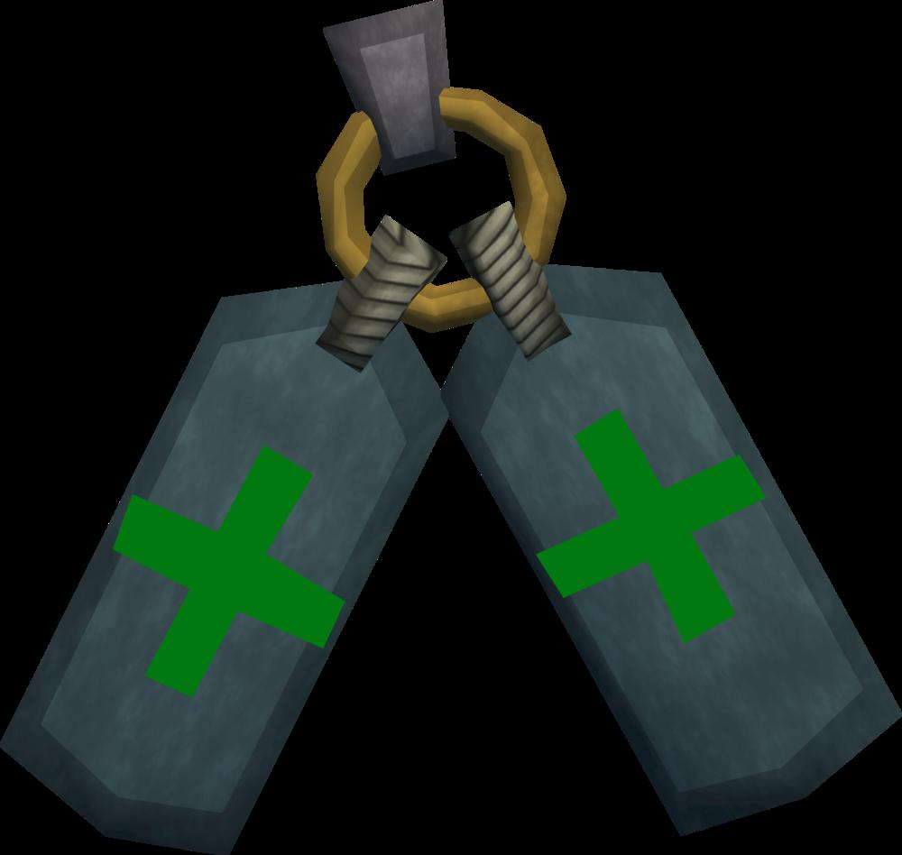 Healer's insignia detail