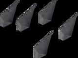 Steel arrowheads