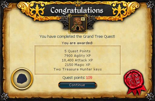 The Grand Tree reward