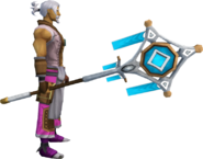 Banner of Seren (tier 3) equipped