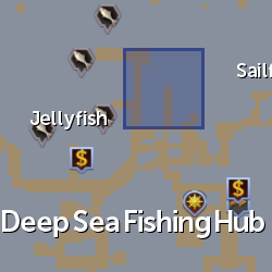 Hermit crab (Deep Sea Fishing) location