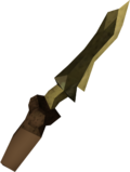 Off-hand zephyrium dagger detail