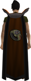 Retro dungeoneering cape equipped