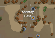 Shantay Pass map